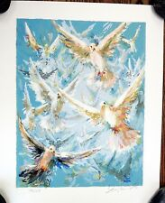 Eva Makk RARE Original Limited Edition FREE DOVES UNFRAMED Serigraph 193/275