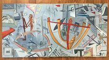 Painting, Mid Century, Atomic, Space-age