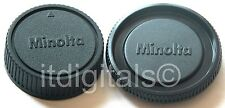Body Rear Lens Cap Set For Minolta MD MC Slr X-700 101 201 202 Srt Glass Cover