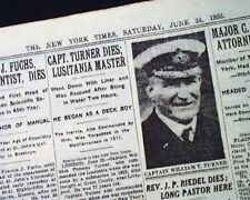 Rms Lusitania Captain Turner Death & Barney Ross Boxing Title Win 1933 Newspaper