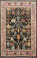 Traditional Authentic Oushak Turkish Area Rug Hand-knotted Vegetable Dye 5x6 ft