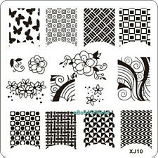 New Design DIY Nail Art Image Stamp Stamping Plates Manicure Template #XJ10