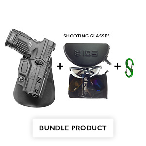 """New! Fobus SPND Paddle HOLSTER for Springfield XDS, 3.3""""& 4"""", 9mm,.40cal &.45cal"""