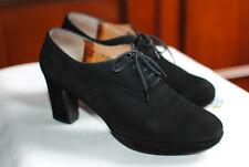 Bottines femme, Robert CLERGERIE, Vintage cuir retourné noir, pointure 36.5/37.