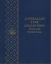 Australian Bronze & Decimal Coins Type Collection Whitman Album NOS