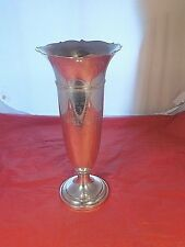 "ANTIQUE GORHAM STERLING SILVER 12"" VASE #503 NEW ENGLAND REVOLVER LEAGUE TROPHY"
