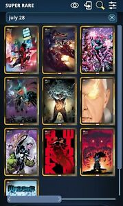 Topps marvel collect Topps Now Comic Covers july 28 [Gold and Silver] [20 cards]