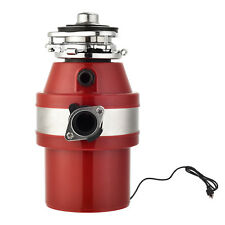 2600 RPM 1.0 HP Garbage Disposal Continuous Feed Kitchen Food Waste w/ Plug RED