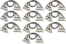 10 Sets 1 m Adam Hall XLR Mikrofonkabel Patchkabel 6 Farben Neutrik kompatibel