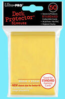 50 Ultra Pro DECK PROTECTOR YELLOW Standard Size NEW Card Sleeves ccg game MTG