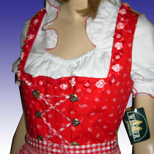 Gorgeous NEW Heidi Corset LACE-UP Dirndl + Apron RIBBON ROSES & RHINESTONES M