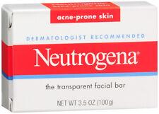 Neutrogena Acne-Prone Facial Bar 3.5 Ounce Box (103ml) (3 Pack)