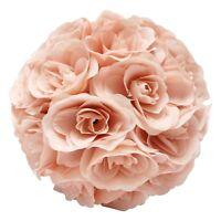 "7"" Flower Balls Made Kissing Ball Pomander Floral Decor Centerpiece Blush Pink"