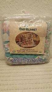 BEACON TRIPLE LAYER WOVEN JACQUARD BABY BLANKET 36 x 48 IN. NEW