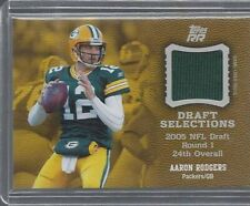 AARON RODGERS 2011 TOPPS RISING ROOKIES DRAFT SELECTIONS JERSEY