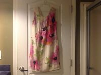 The Loft Women's Dress Size 0 XS Floral Print Shift Sleeveless