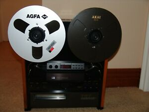 CUSTOM MADE BLACK MINT AKAI GX-747 REEL TO REEL TAPE DECK RECAPPED AND SERVICED!