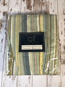 Vintage C&F Enterprises, Inc.~ King Size Dust Ruffle ~ Henley Spa Stripes