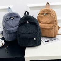 Women Fashion Corduroy Backpack School Bags Girls Travel Handbag Shoulder Bag