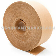 Water Activated 70mm x 500' Reinforced Kraft Carton Sealing Shipping Box Tape