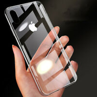 Slim Shockproof Clear Tempered Glass Case Cover For Apple iPhone 11 Pro Max XR
