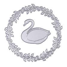 Swan Wreath Metal Cutting Dies Stencils DIY Scrapbooking Album Paper Card Craft