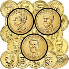 Complete 2007-2016 Set of President Dollar Coins (78), P & D Mint, Thru Reagan