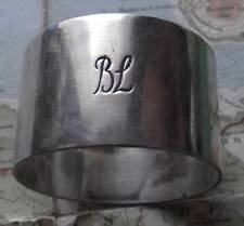 Old Bibby Shipping Line Heavy Silver Plated Napkin Ring No.160
