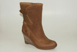 Timberland Stratham Height Mid Wedge Boots Size 41,5 US 10 Women Boots 3623R