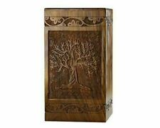 Rosewood Cremation Urn Engraved Tree Funeral Urn for Human/Pet Ashes SWU41