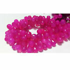 Pink Chalcedony Briolette Beads Tear Drop Faceted Gemstones Beads 70 Pcs 9x12mm