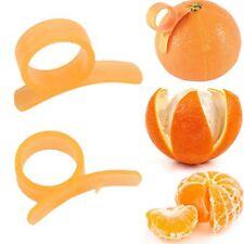 2PCS Plastic Orange Peeler Slicer Opener Lemon Cutter Citrus Fruit Skin Remover