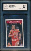 GMA 10 MICHAEL JORDAN 1992-93 Panini Stickers Chicago Bulls HOF GOAT GEM MINT