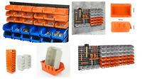 Wall Mounted Storage Bin & Board Set For Garage DIY Tools Rack Organizer