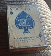 1881 IN INDEPENDENT CARD CO. ADVERTISING TIN CASE,nice