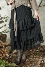 Jeanne D Arc Living Rock Spitze Spitzenrock XL - XXL schwarz Stufenrock Vintage