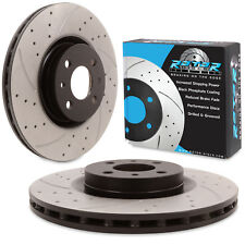 FRONT DRILLED GROOVED 285mm BRAKE DISCS PAIR FOR LANCIA DELTA 2.0 HF INTEGRALE