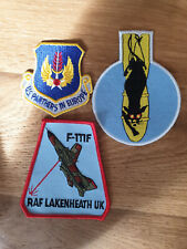 USAF patch set 8 3 RAF Lakenheath patches F-15E 494 FS EFS See other sets