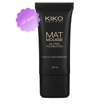 KIKO Mat Mousse Foundation with matifying active ingredients. SPF 15 Matte