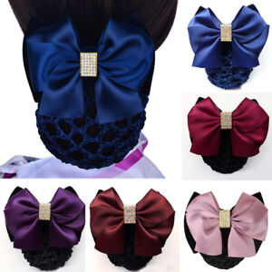 New Bow Hair Clip With Net Pocket Hairpin Accessories For Office Women Headwear