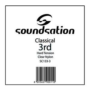 CORDA PER CHITARRA CLASSICA SOL 0.41 HARD TENSION IN NYLON SOUNDSATION SC133-3
