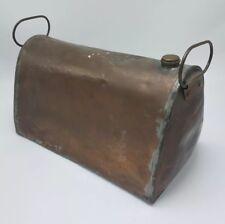Vintage Antique Primitive Copper Foot Warmer w/Handles Rustic Decor