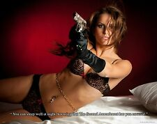Military Motivational Poster 2nd Second Amendment Sexy Women Sniper Gun MVP359
