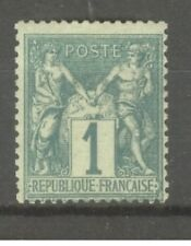 "FRANCE STAMP TIMBRE N° 61 "" TYPE SAGE 1c VERT "" NEUF xx TB"