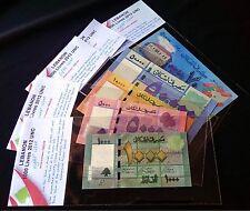 Lebanon 50000 Livres 2013 & 2012  & 10000LL & 5000LL  & 1000LL  2012 UNC