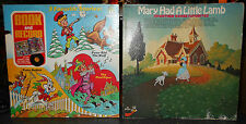 Vintage Vinyl Records Lot of 2 Children Mary Had a Little Lamb Peter Rabbit Etc.