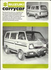 SUZUKI CARRY CAR  BY WALKER SALES BROCHURE  1980