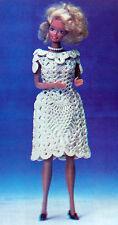 Vtg Crochet Pattern Only ~ Barbie's Pineapple Party Dress ~ Fashion Doll