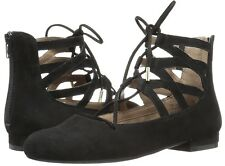 d63544ec0d9 NEW AEROSOLES GOODNESS BLACK or TAN SUEDE ANKLE LACES FLATS