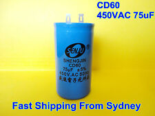 CD60 450VAC 75uF 50Hz Air Conditioner Appliance Motor Capacitor **NEW**